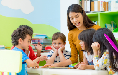 kids listening to their teacher